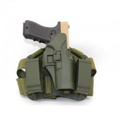 Stehenní pro Glock 17, 19 ...  - zelené