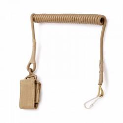 Bezpečnostní šňůra k pistoli - písková