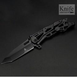 Zavírací celokovový nůž  - černý