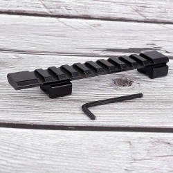 redukce 11mm na 20mm Picatinny Rail - 125mm dlouhá