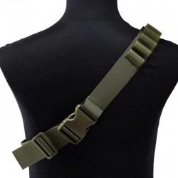 Nábojový pás brokový - zelený na 26