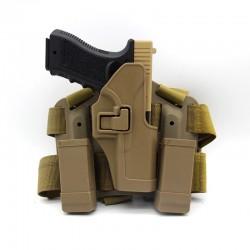 Stehenní pro Glock 17, 19 ...  - pískové