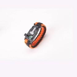 Paracord náramek - oranžovočerný