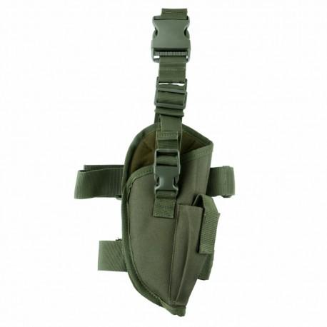 Stehenní taktické pouzdro na zbraň pravé - zelené