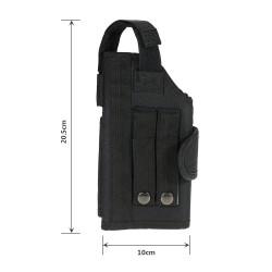 Rozvinovací pistolové pouzdro - černé