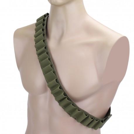 Nábojový pás brokový zelený