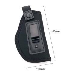 Pistolové vnitřní pouzdro elastické - černé