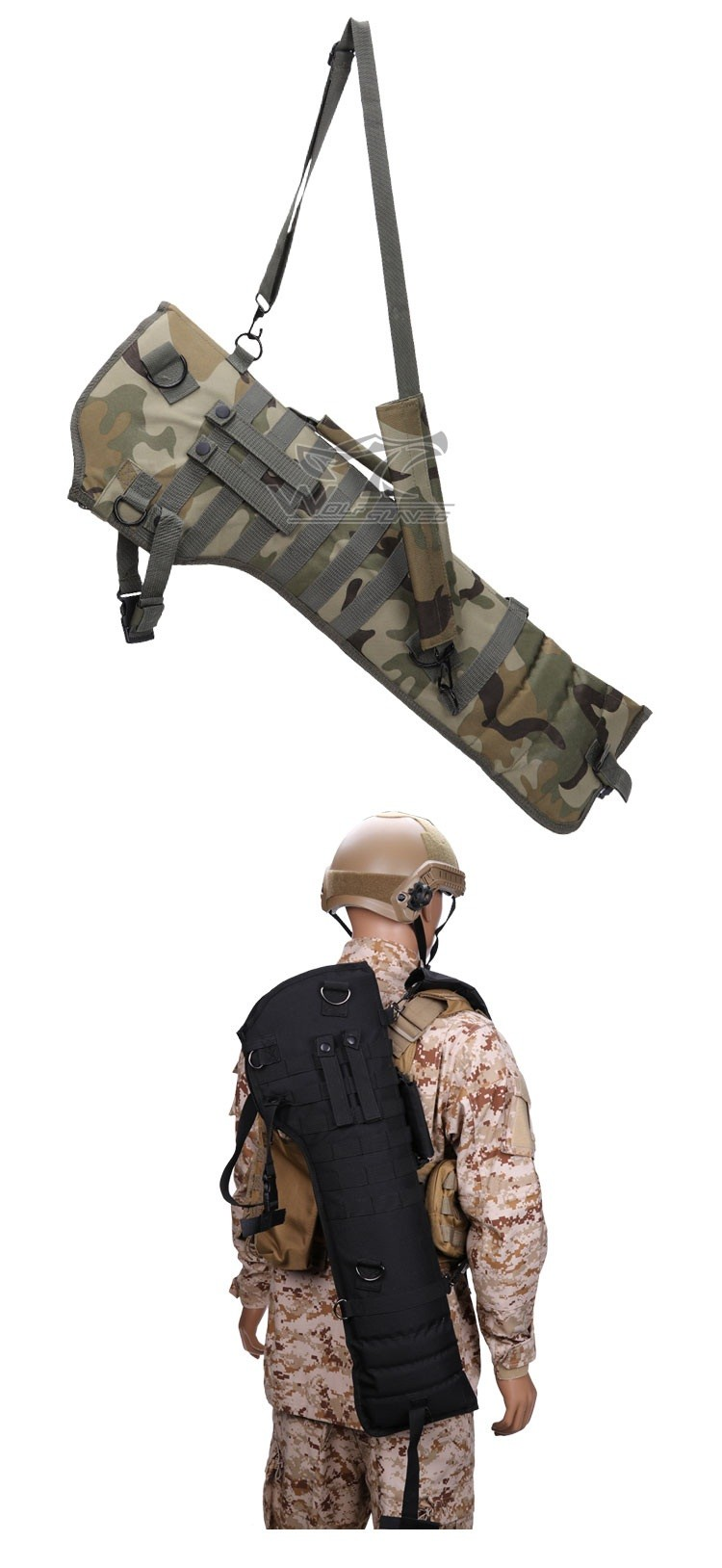 Pouzdro na dlouhou zbraň - zelené 051zd